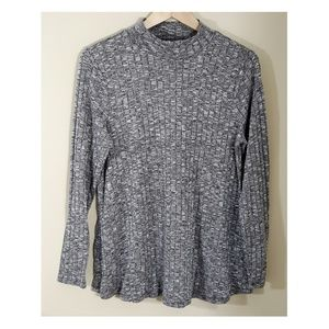 CABLE & GAUGE Gray Sweater Tunic Top, Large
